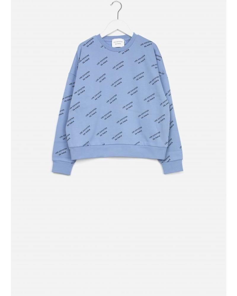 Les Coyotes De Paris frankie sweater powder blue