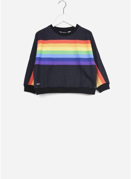 Yporque trui rainbow poncho black