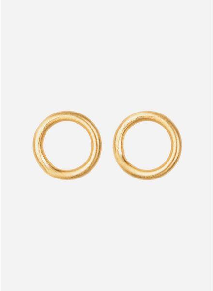 By Bar oorbel circle gold