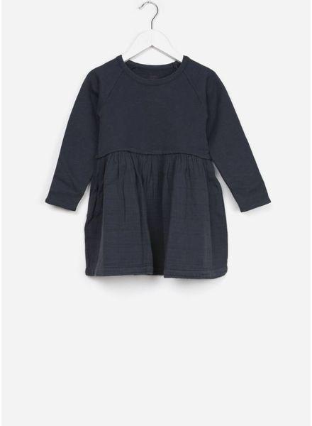 Bonton jurk bi matiere charcoal