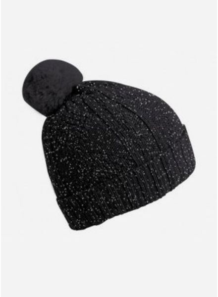 Collegien bonnet antraciet glitter
