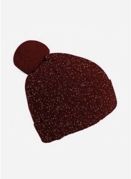 Collegien bonnet bordeaux glitter