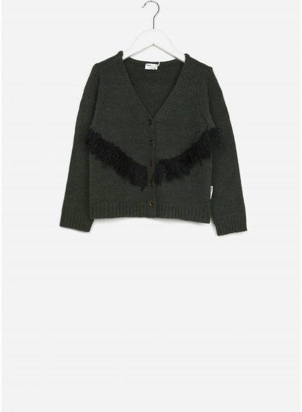 Maed for mini vest  turtle knit cardigan
