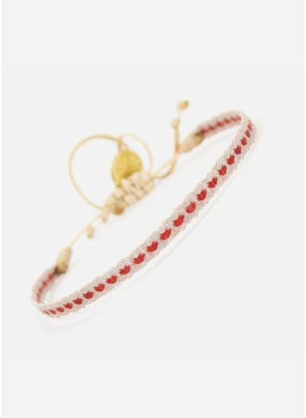 Guanabana armband rode hartjes