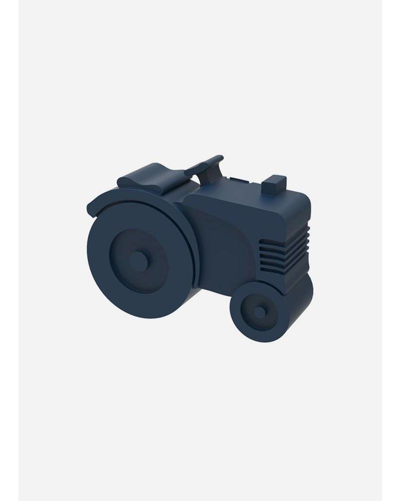 Blafre broodtrommel tractor donkerblauw