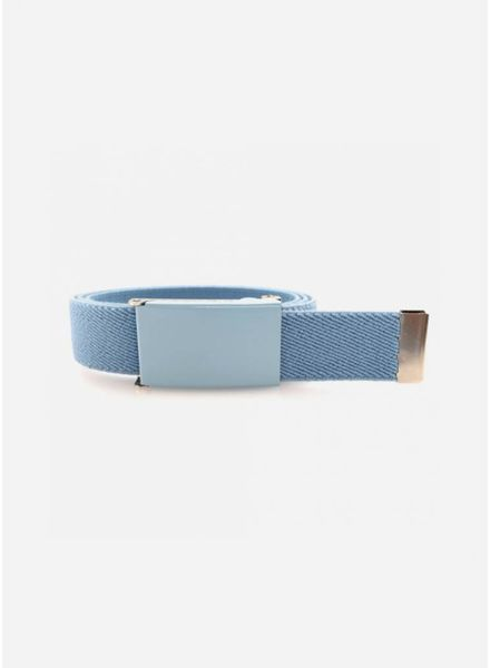 French King riem pastel blauw