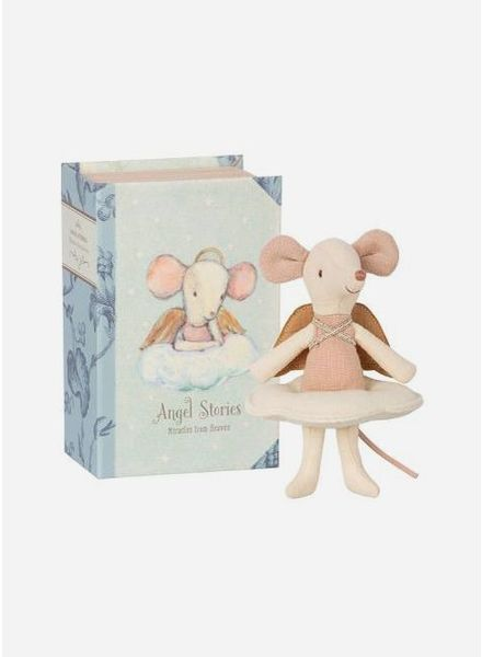Maileg angel mouse, big sister in a book