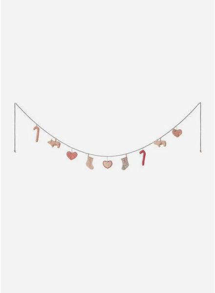 Maileg christmas garland large 1.70m - 9 ornaments