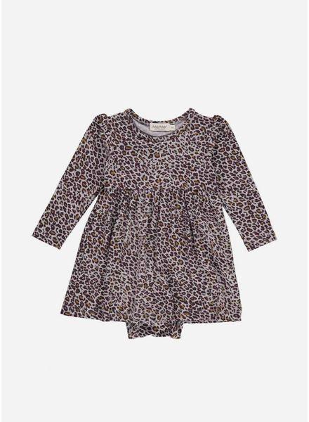 MarMar Copenhagen limited dark plum leo ramona dress leopard