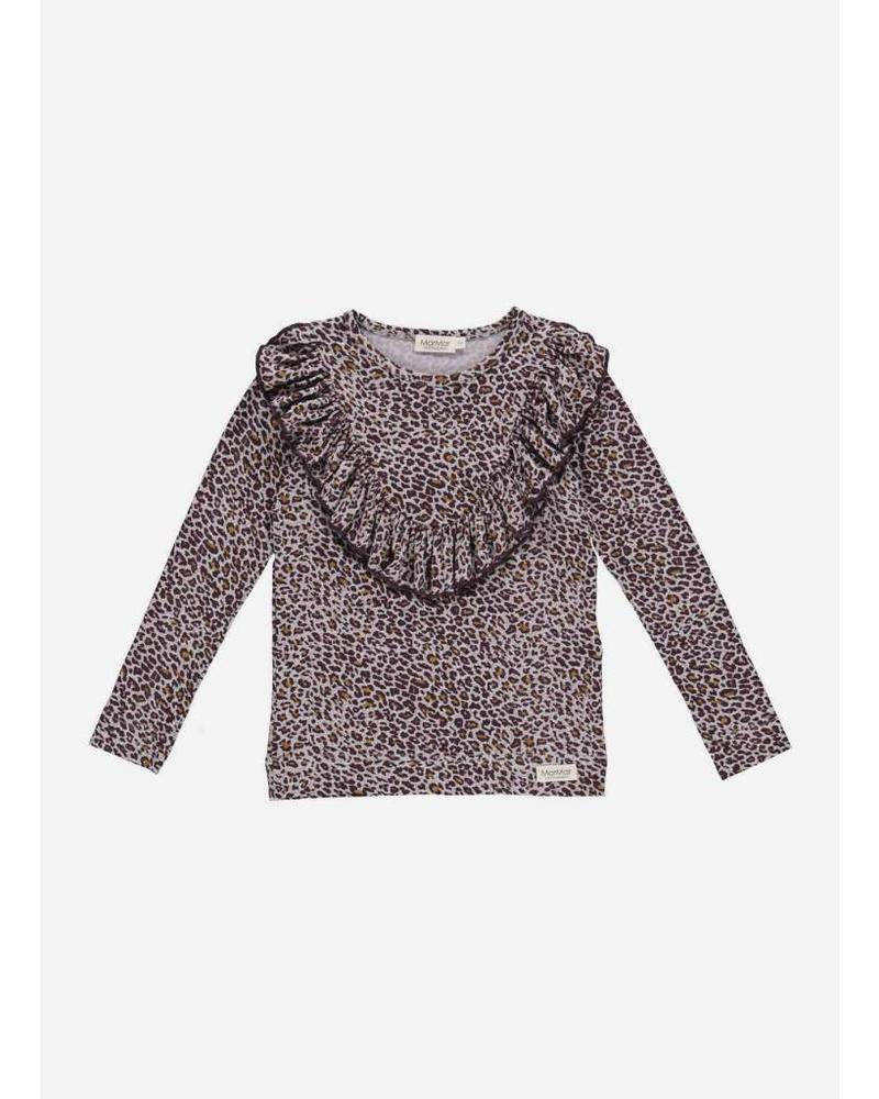 MarMar Copenhagen limited dark plum leo taren shirt leopard