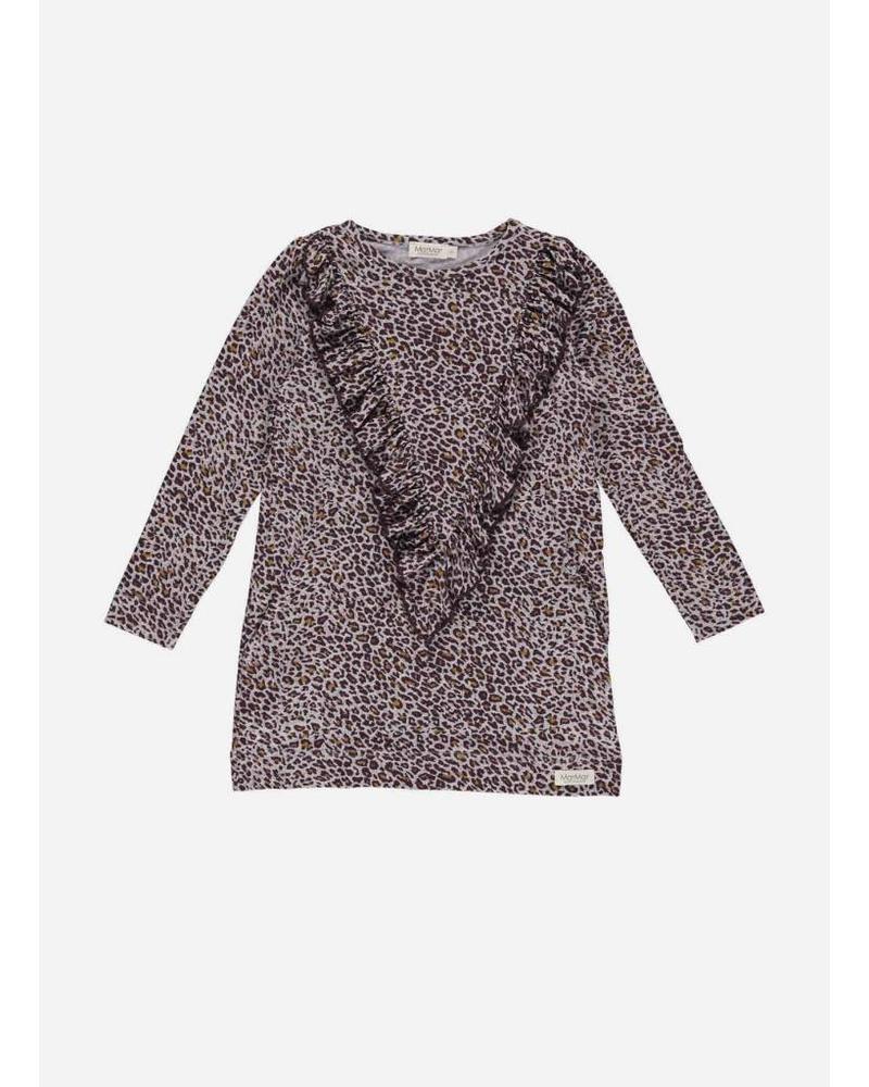 MarMar Copenhagen limited dark plum leo darina dress leopard