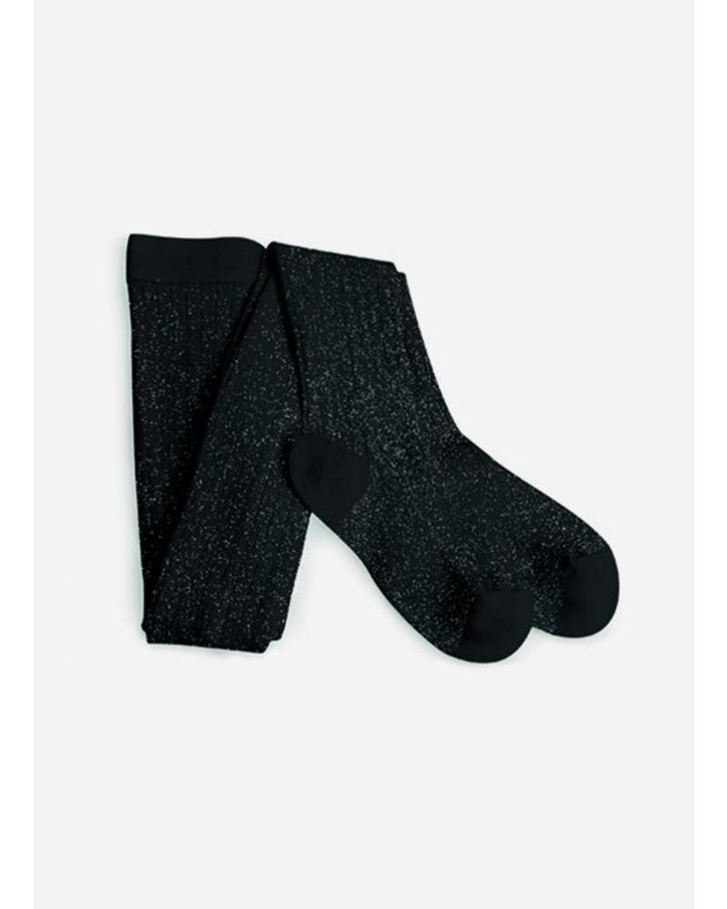 Collegien maillot lurex noir de charbon