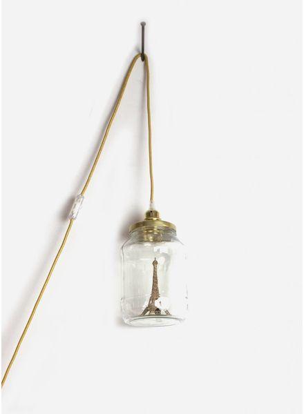 La Tete Le Bocal grote lamp Eiffeltoren goud