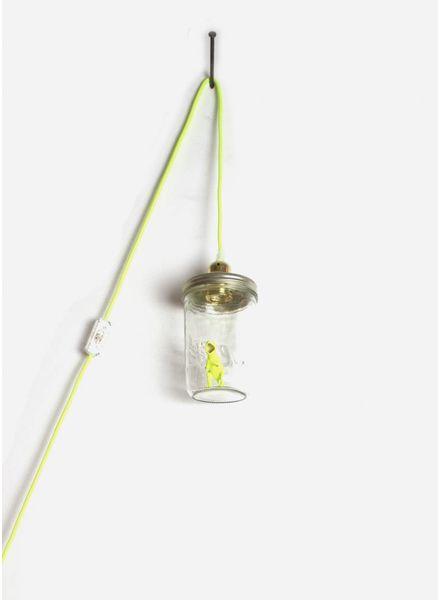 La Tete Le Bocal lamp dinosaurus geel fluor