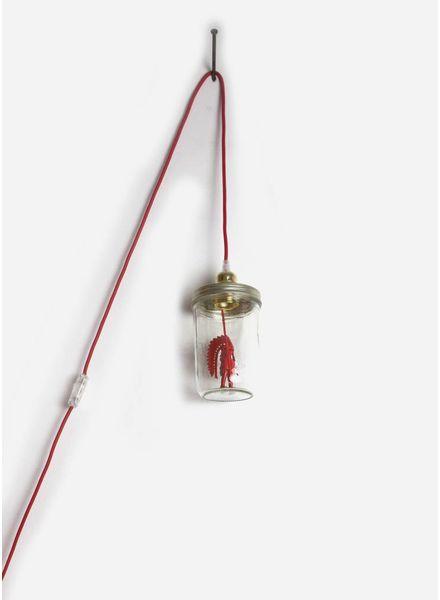 La Tete Le Bocal lamp indiaan rood