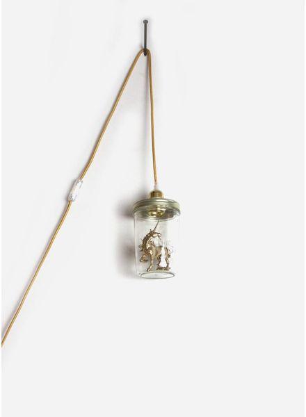 La Tete Le Bocal lamp eenhoorn goud