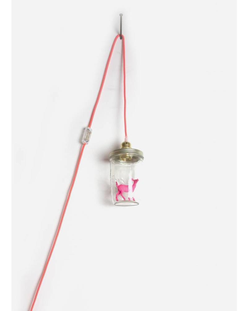 La Tete Le Bocal lamp hert roze fluor