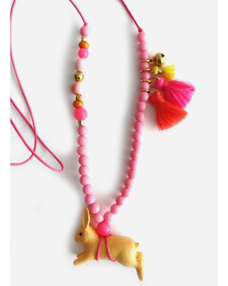 ByMelo ketting konijn roze