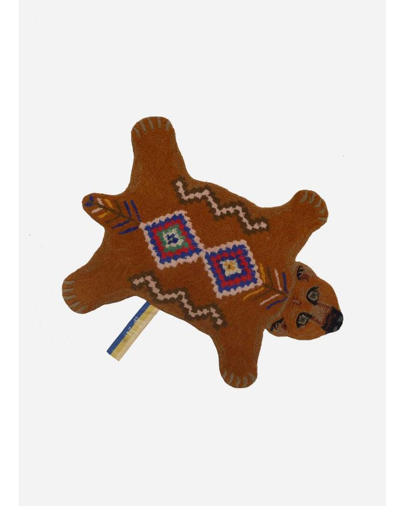 Doing Goods berber grizzly bear rug small