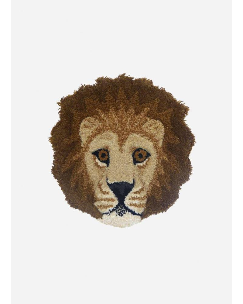 Doing Goods moody lion head rug