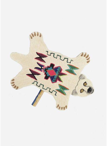 Doing Goods kasbah polar bear rug small