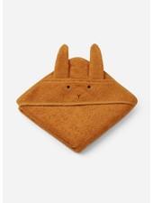 Liewood albert hooded handdoek rabbit mustard