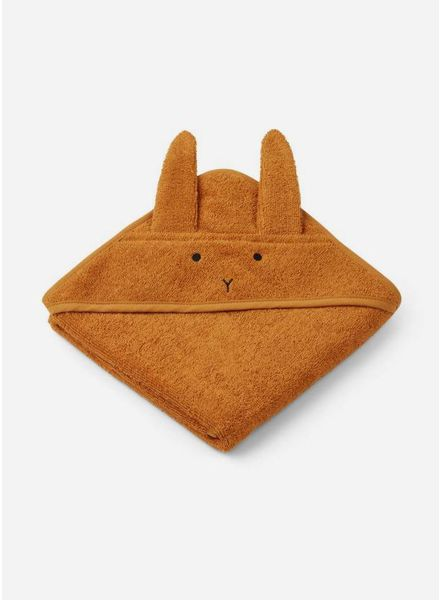 Liewood albert hooded handdoek rabbit mustard