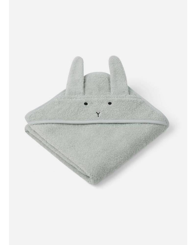 Liewood albert hooded towel dusty mint