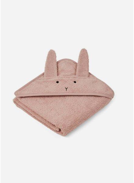 Liewood albert hooded handdoek rabbit rose
