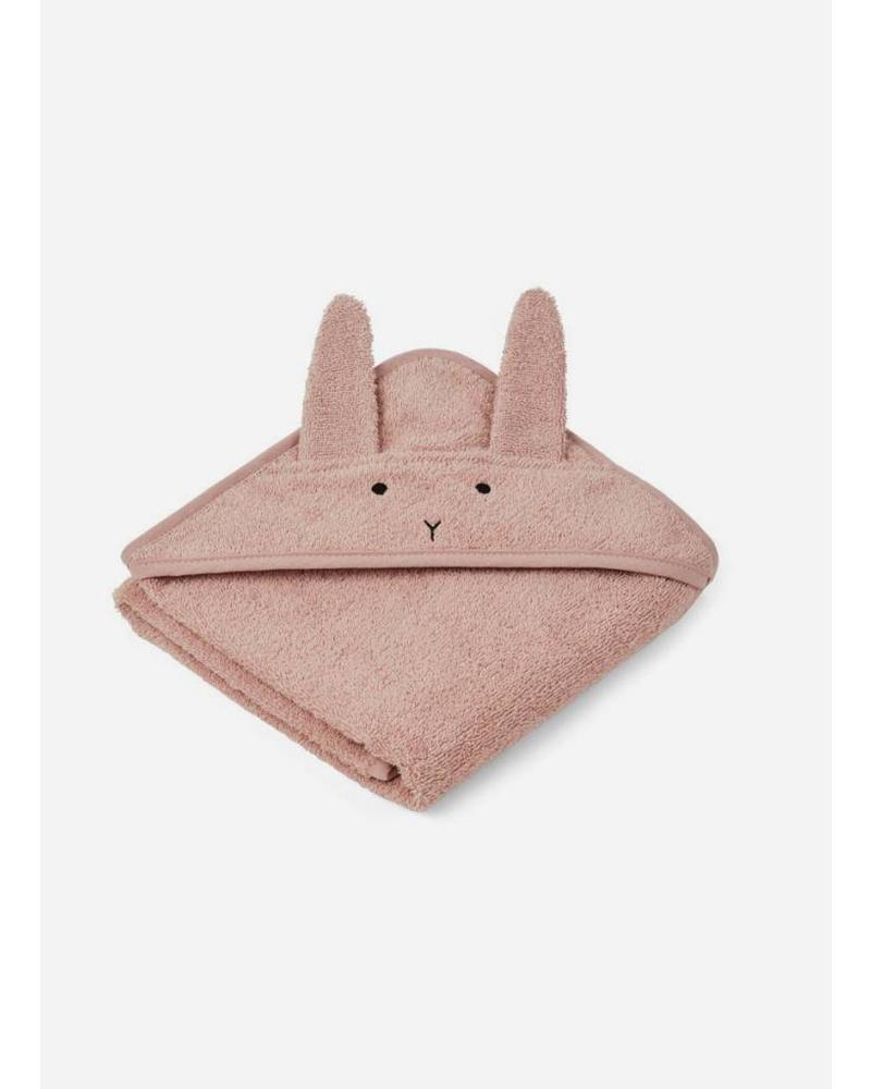 Liewood albert hooded towel rabbit rose