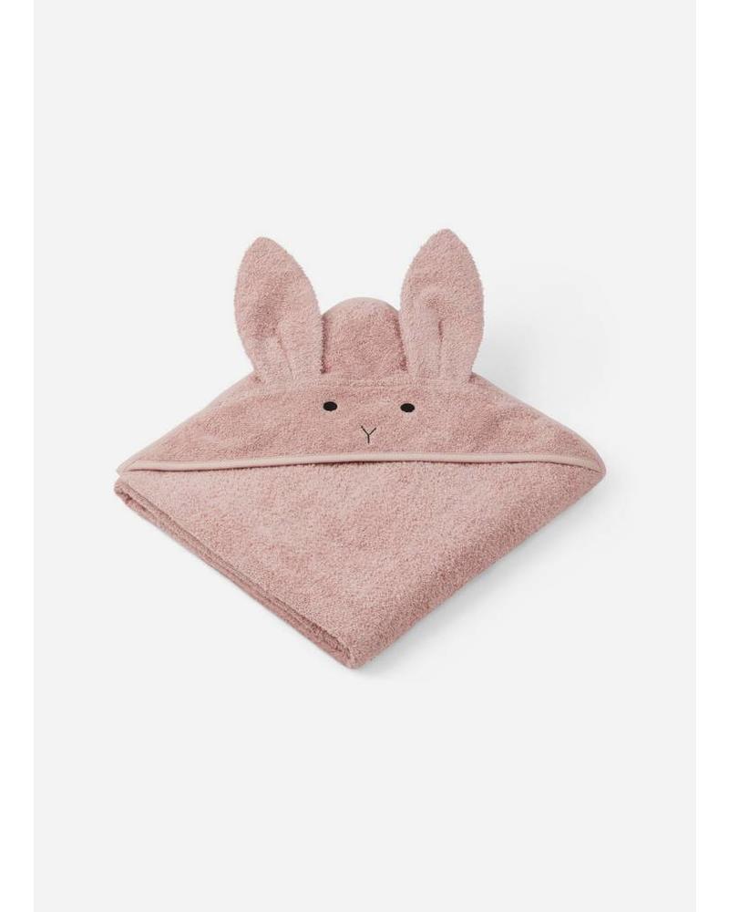 Liewood augusta hooded towel groot rabbit rose