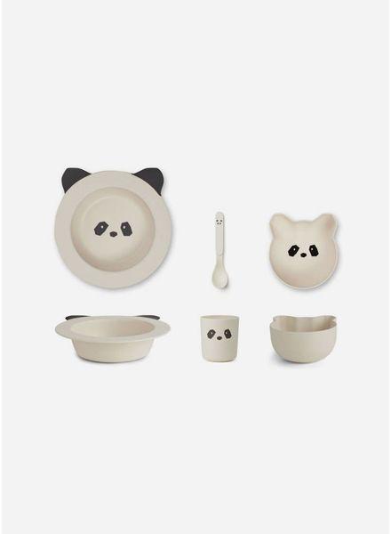 Liewood barbara bamboo baby set panda creme de la creme