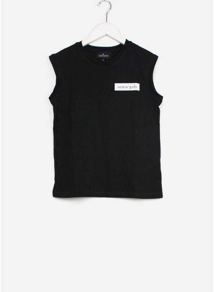 Little Remix shirt stanley muscle badge black