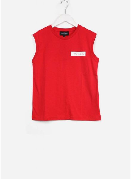 Little Remix shirt stanley muscle badge lipstick red