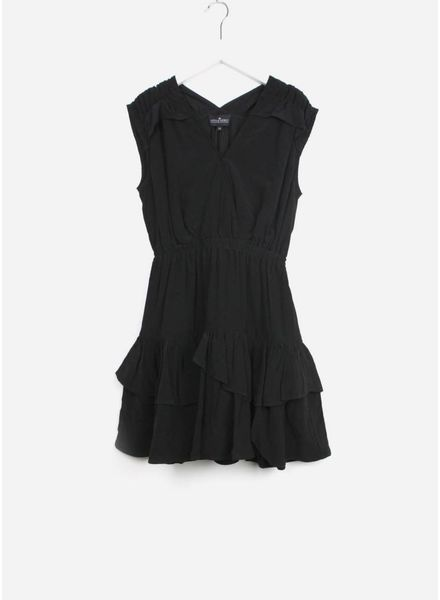Little Remix jurk nini ruffle black