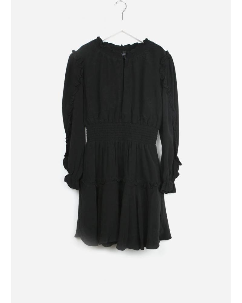Designer Remix Girls LR nini smock dress black