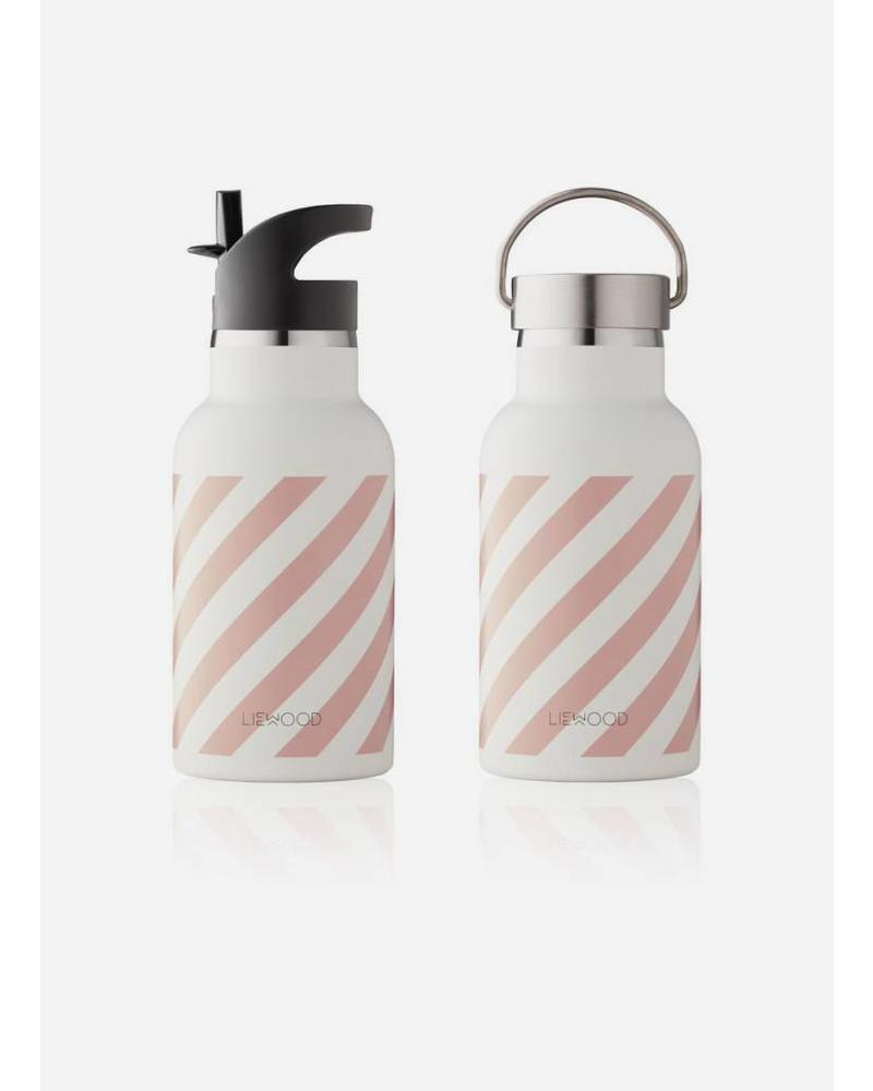 Liewood anker water bottle stripe rose