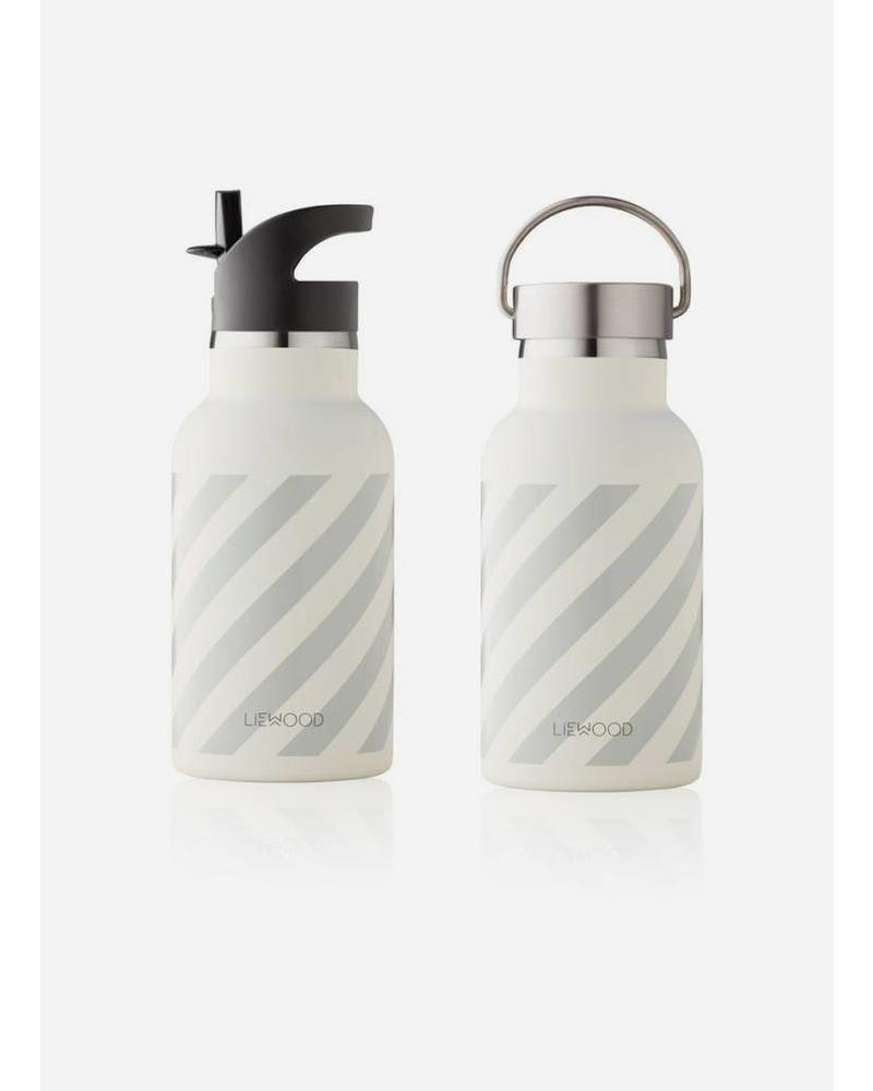 Liewood anker water bottle stripe dumbo grey