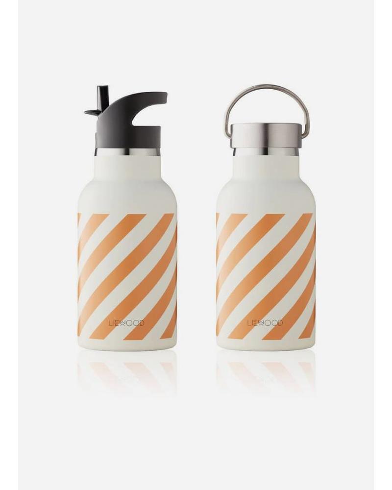 Liewood anker water bottle stripe mustard