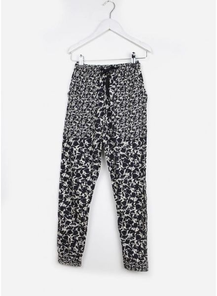 Les Coyotes De Paris santi pants big navy flower