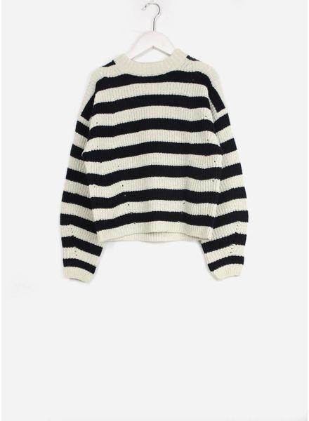 Les Coyotes De Paris salle sweater navy stripe