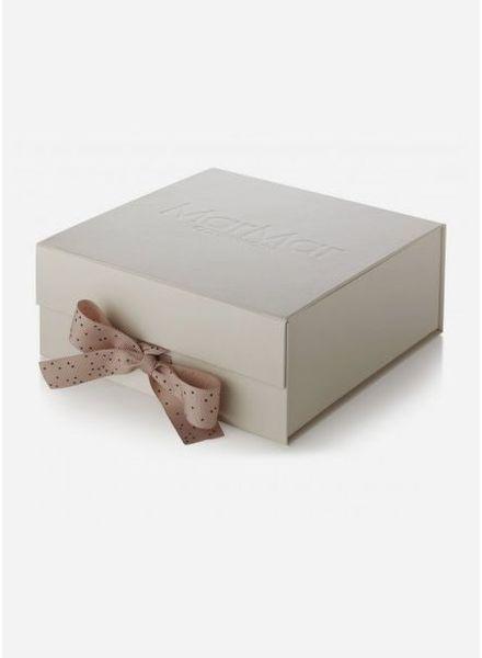 MarMar Copenhagen baby gift box dust print dark sand