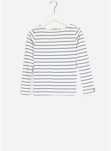 MarMar Copenhagen theodora plain t-shirt girl shaded blue stripes