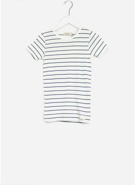 MarMar Copenhagen plain tee ss t-shirt boy shaded blue stripe