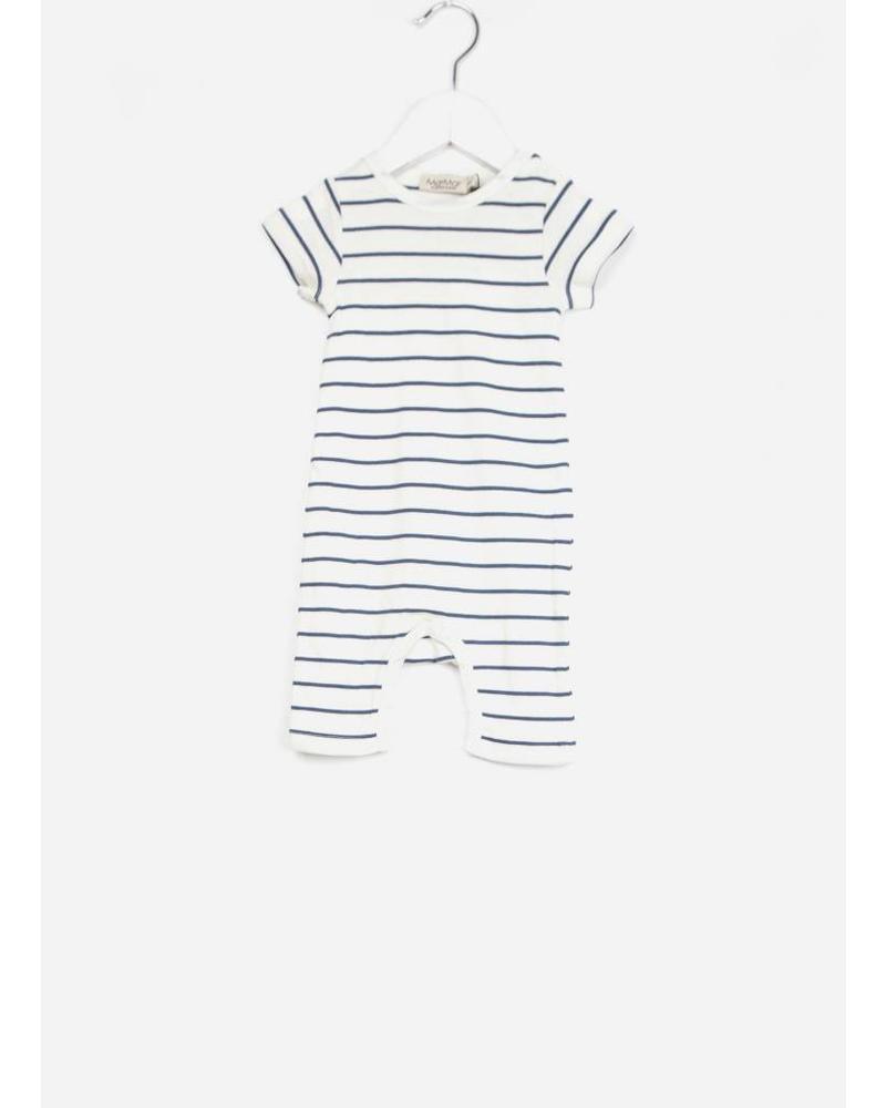 MarMar Copenhagen summer rompy baby unisex shaded blue stripe