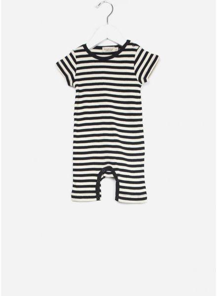 MarMar Copenhagen plain summer rompy baby unisex black/off white