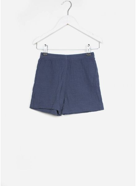 Long Live The Queen crinckle shorts blauw