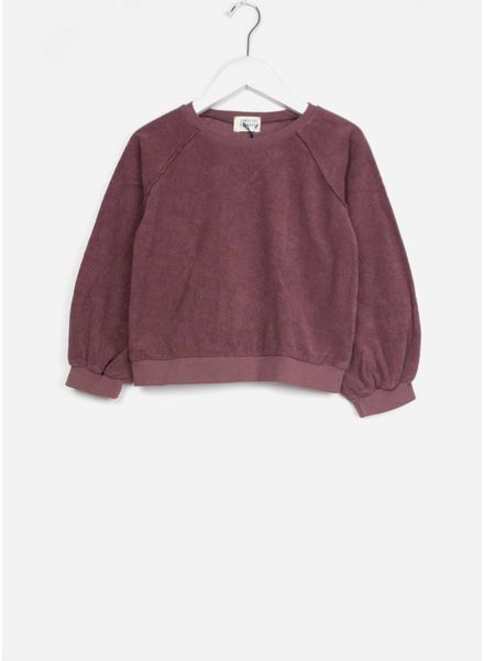 Long Live The Queen terry sweater aubergine
