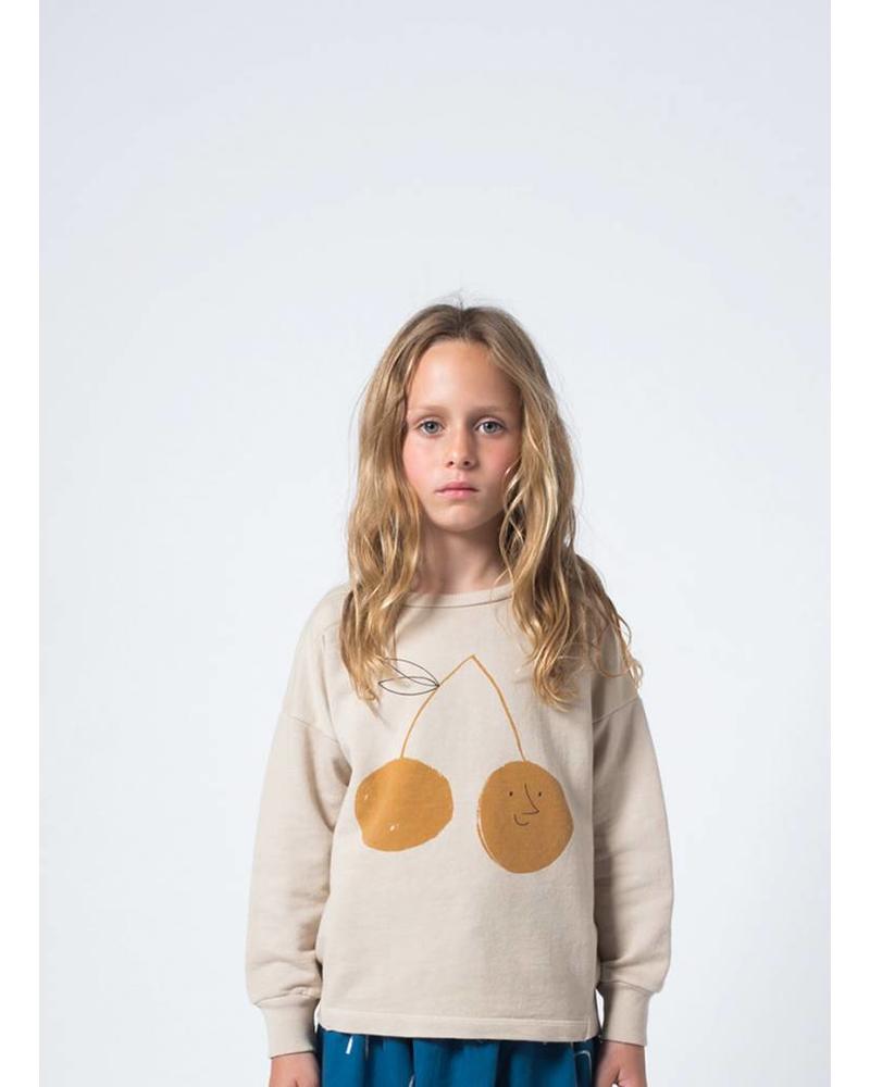 Bobo Choses cherry round neck sweatshirt