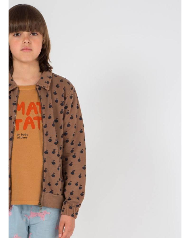 Bobo Choses apples zipped sweatshirt
